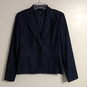Rafaella Denim Style Blazer Jacket Career 6